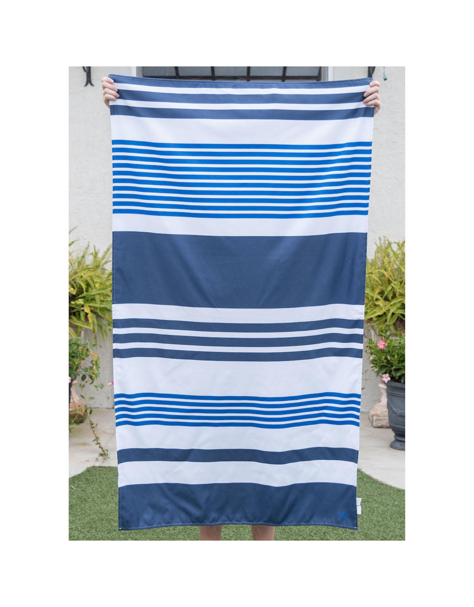 Paradise Stripe Beach Towel/Navy-Blue
