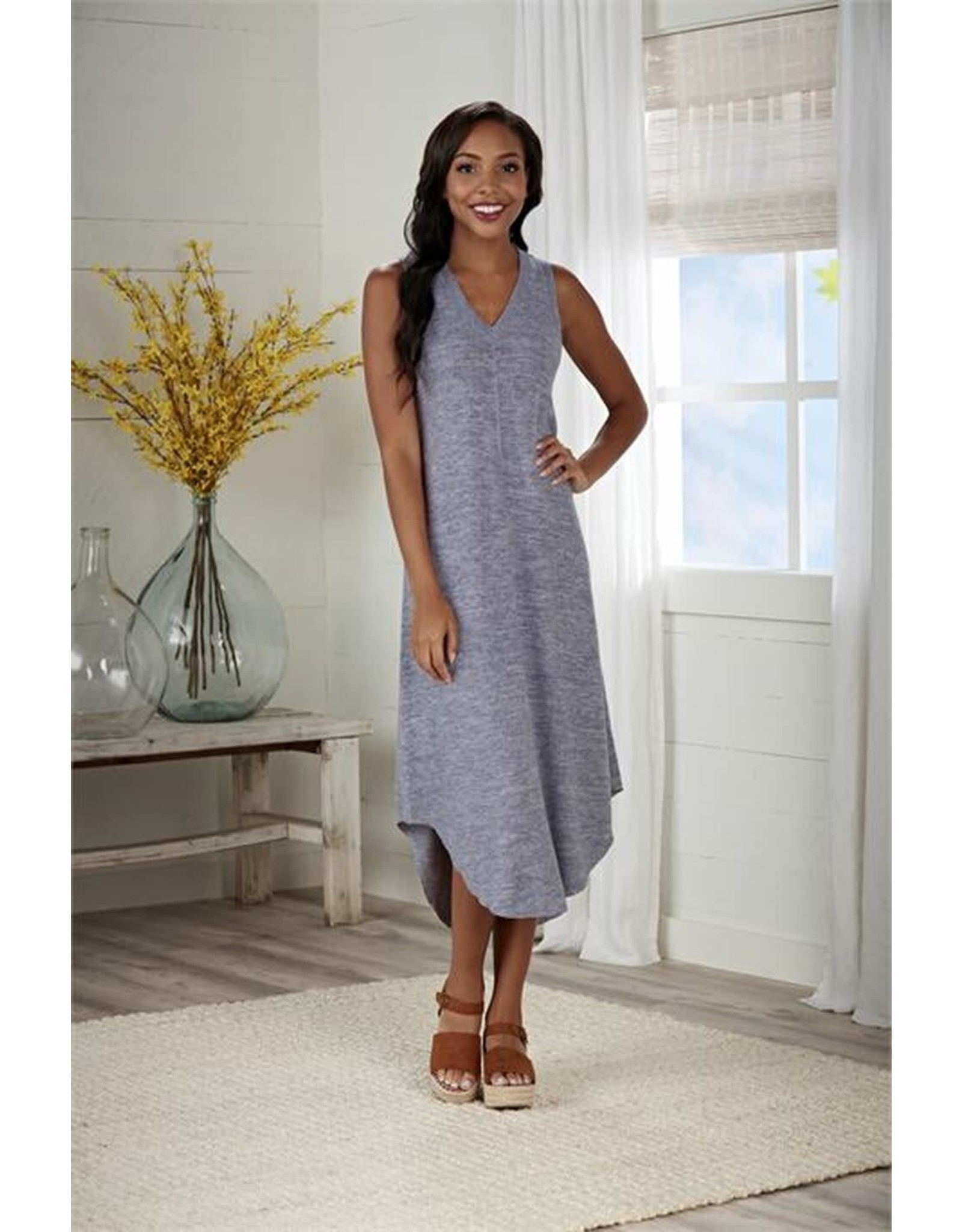Nash Midi Dress Blue-Lg