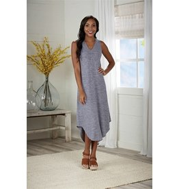Nash Midi Dress Blue-Med