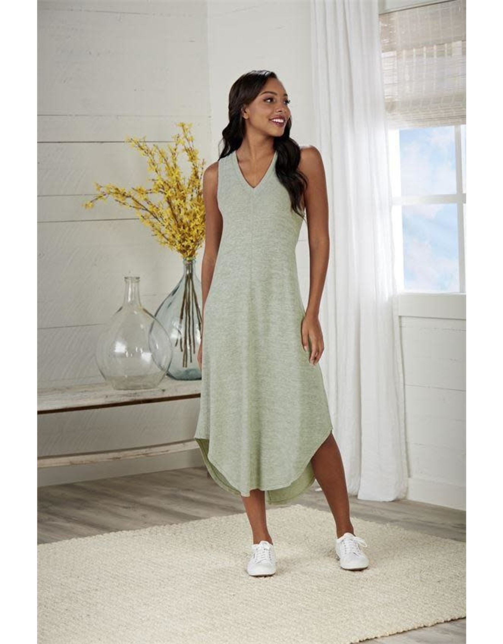 Nash Midi Dress Green-Med