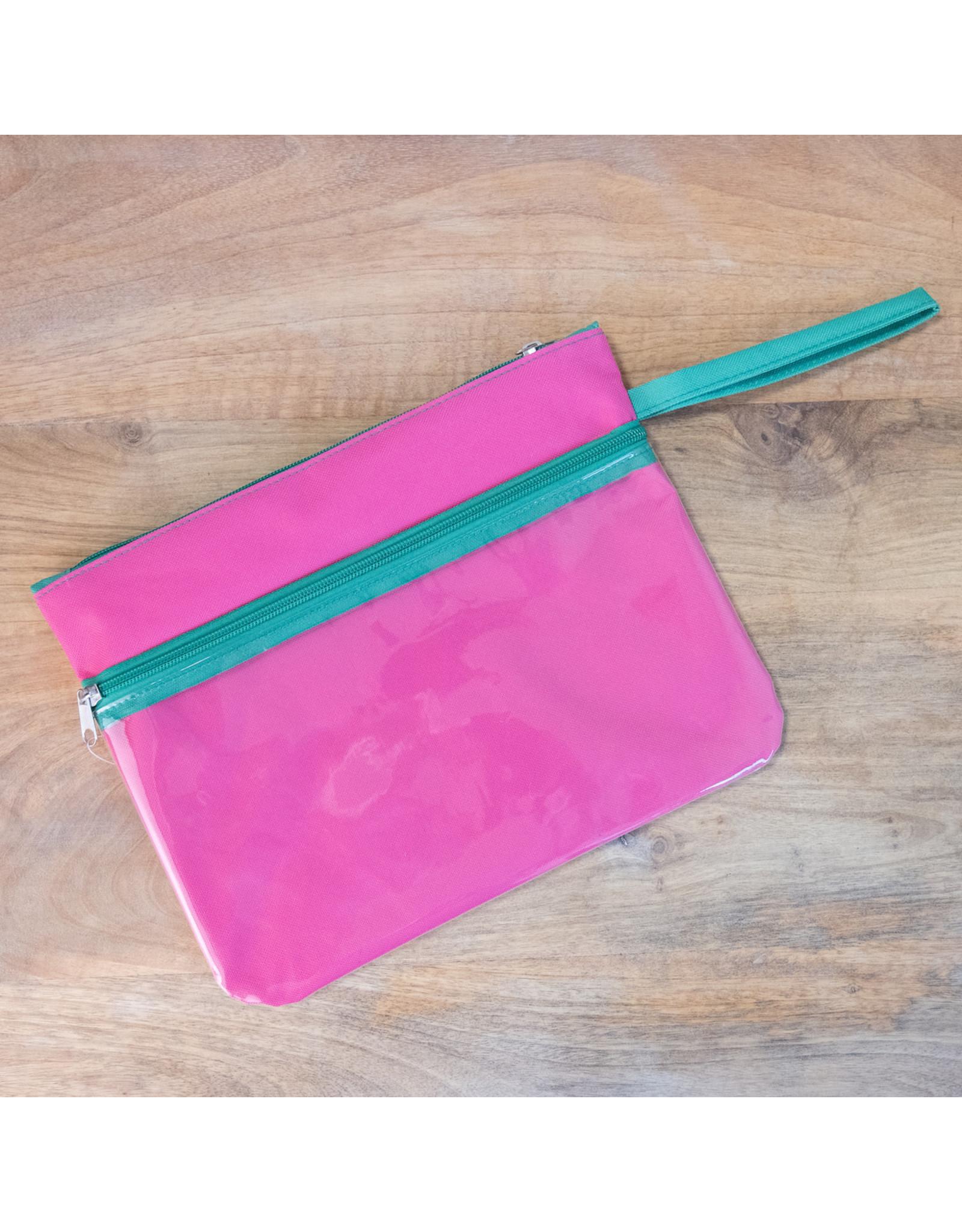 Malibu Wet/Dry Bag---Pink / Parakeet