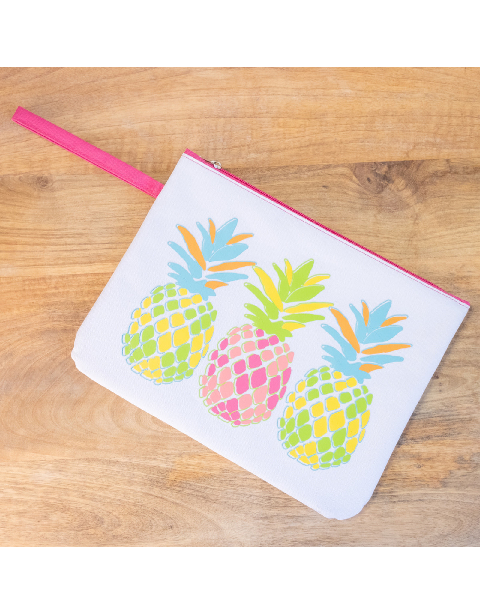 Pineapple  Wet/Dry Bag---White/ Multi