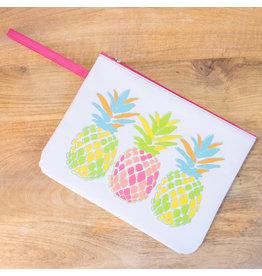 Pineapple  Wet/Dry Bag---White/ Multi