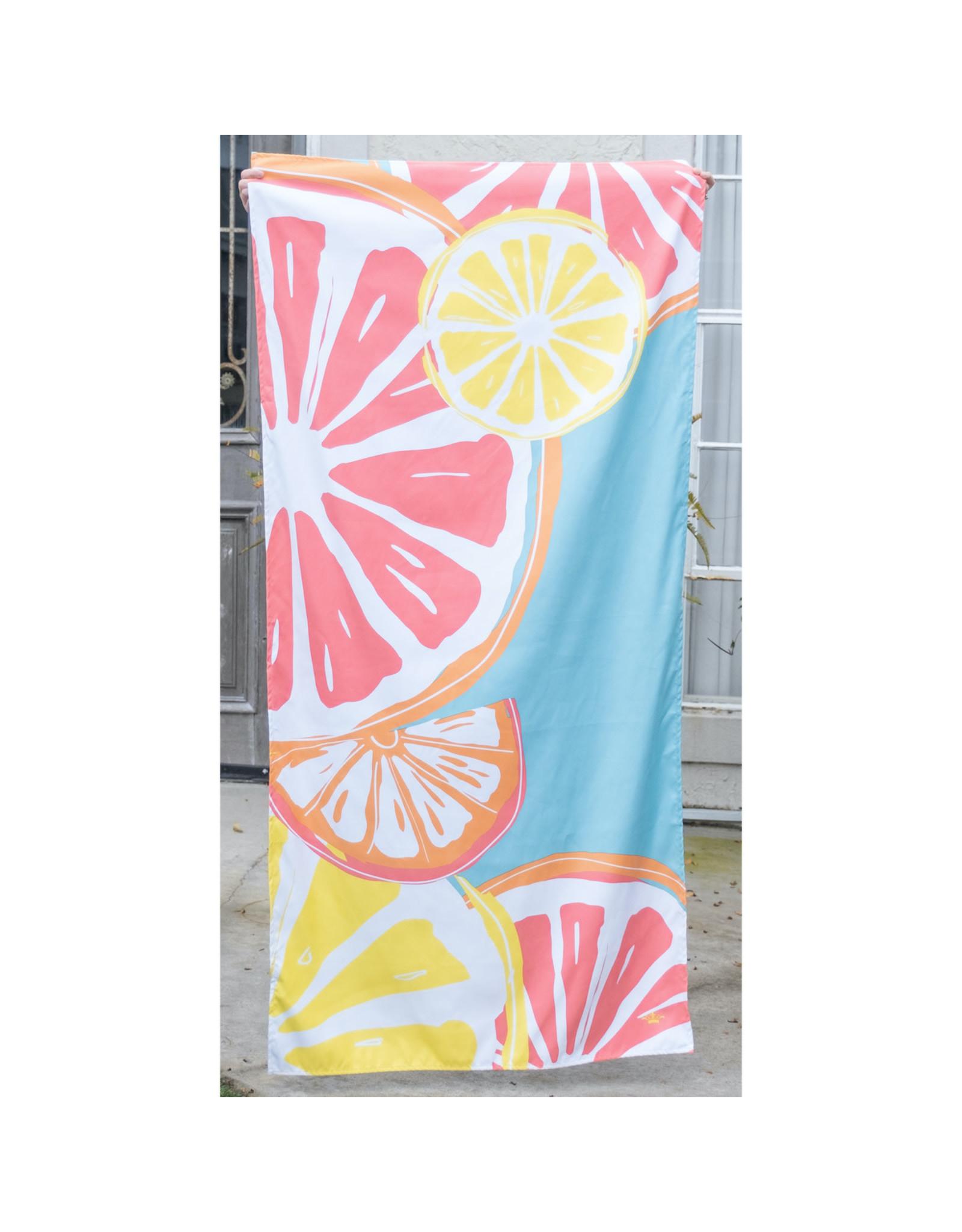 Tutti Frutti Beach Towel-Blue/Melon