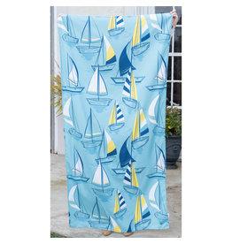 Newport Beach Towel-Sky/Royal