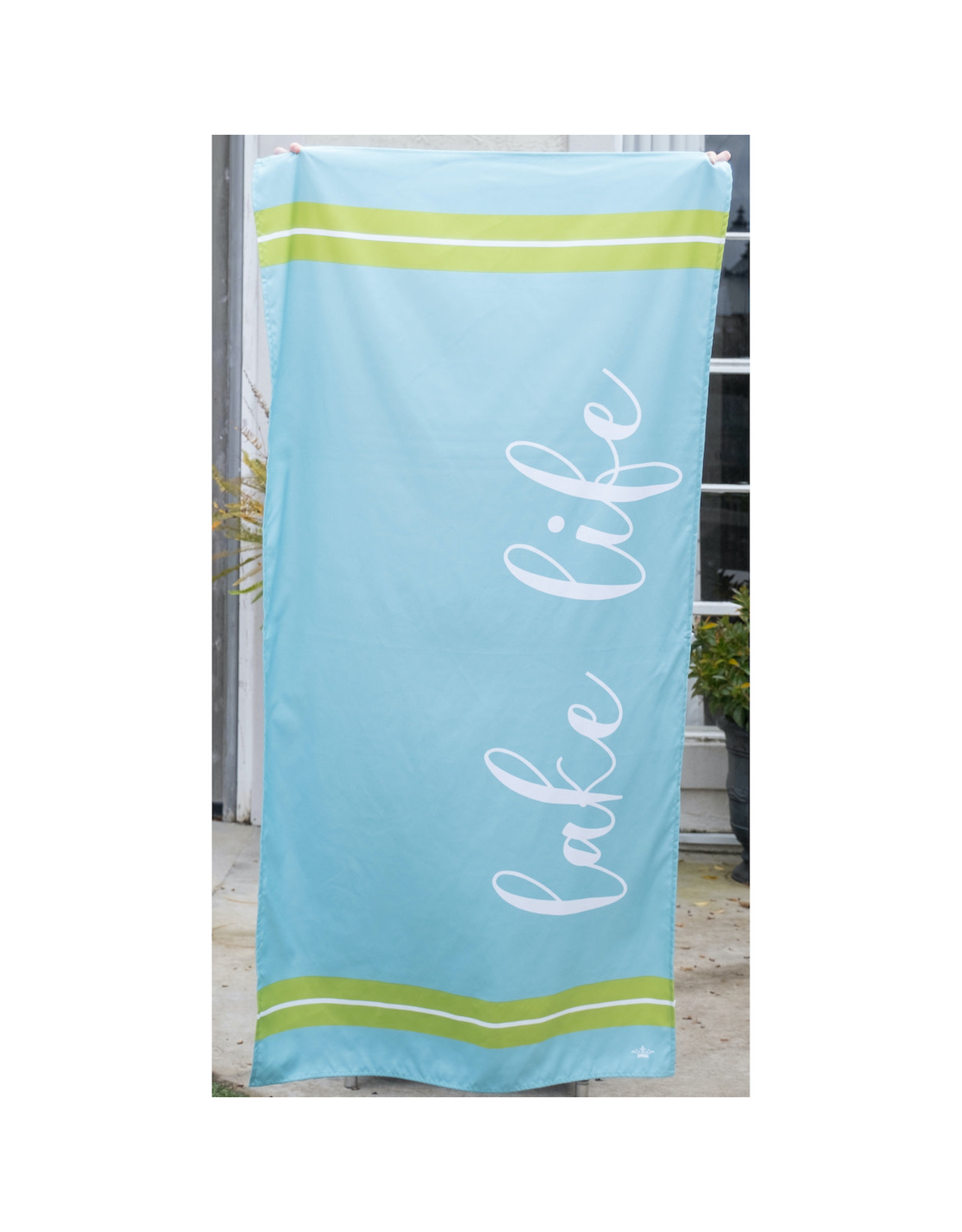 Lake Life Beach Towel-Blue/Lime