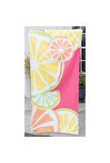 Tutti Frutti Beach Towel-Pink/Yellow