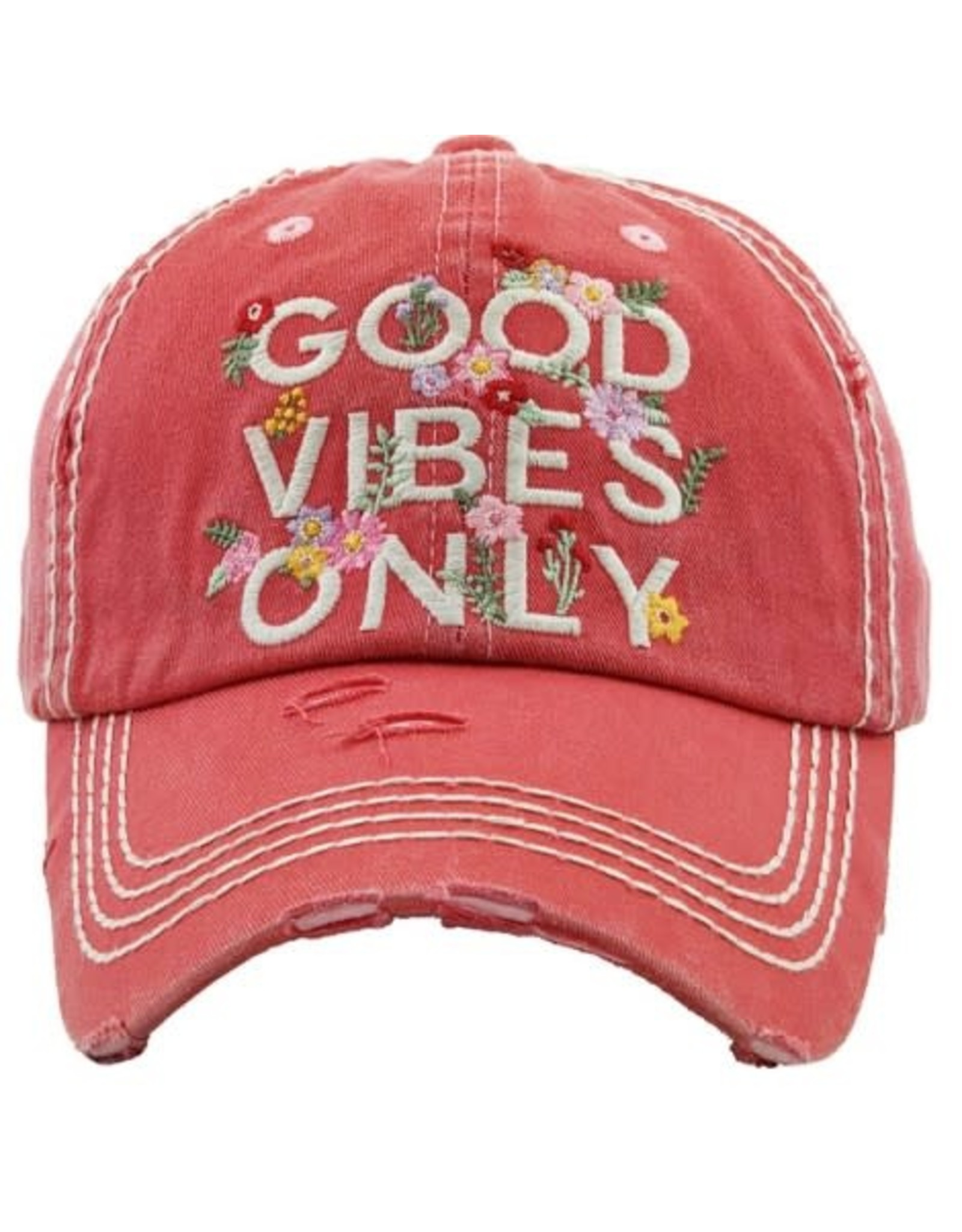 Good Vibes Only Pink Floral hat