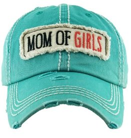 Mom of Girls hat teal