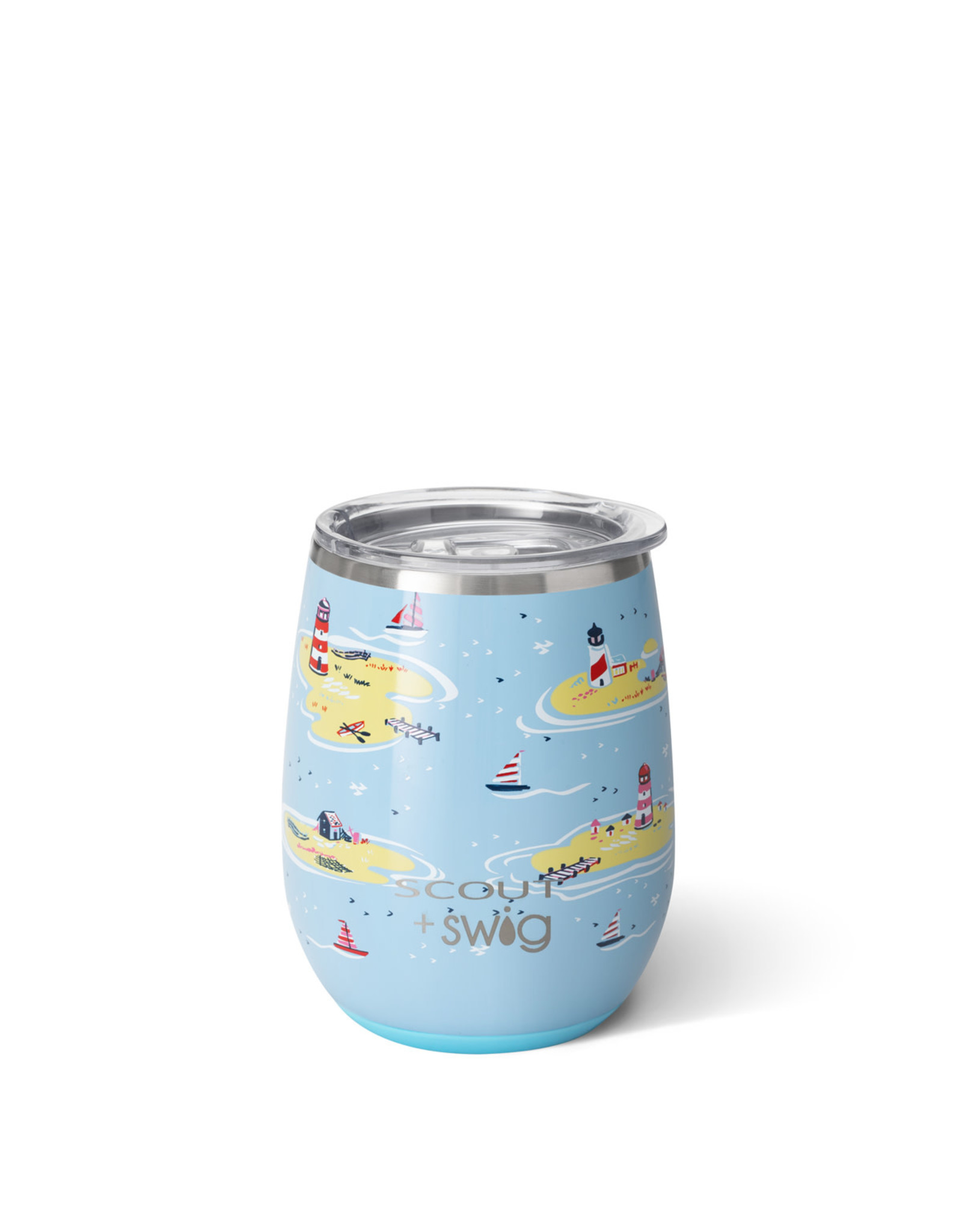 Scout Ships and Giggles stemless cup