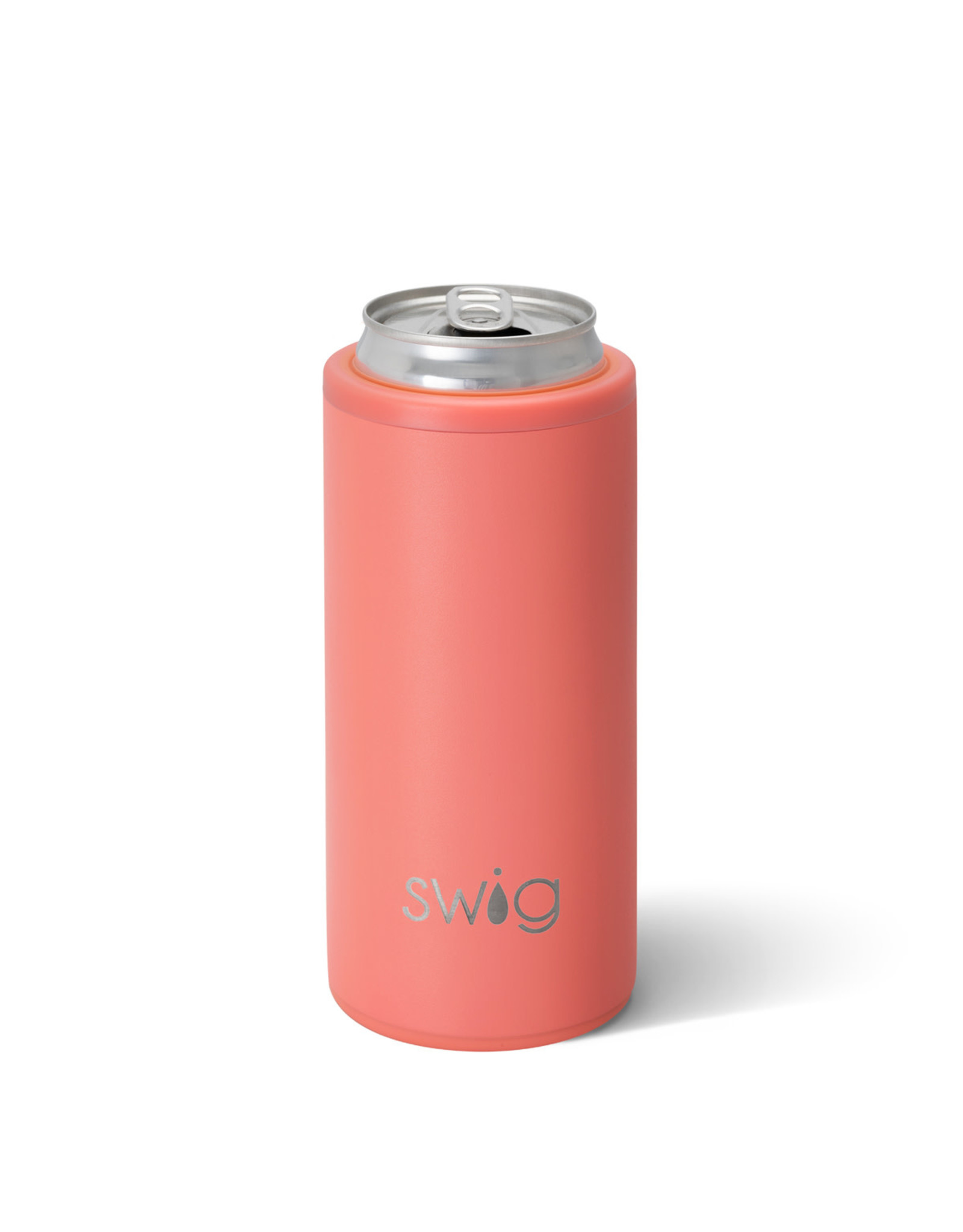 Matte Coral Skinny can