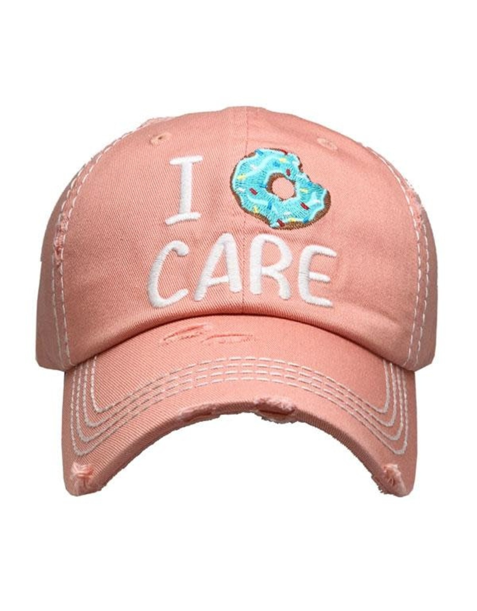 I Donut Care coral hat