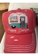 Happy Camper pink hat