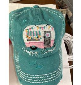 Happy Camper turq hat