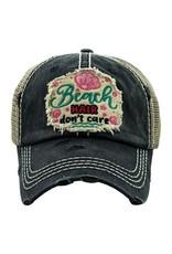 Beach Hair Don't Care mesh back hat
