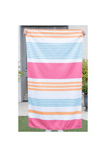 Paradise Stripe sherbert/aruba microfiber towel