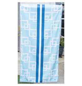 Marina blue microfiber beach towel