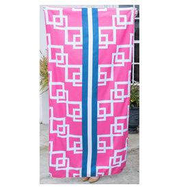 Marina pink microfiber towel
