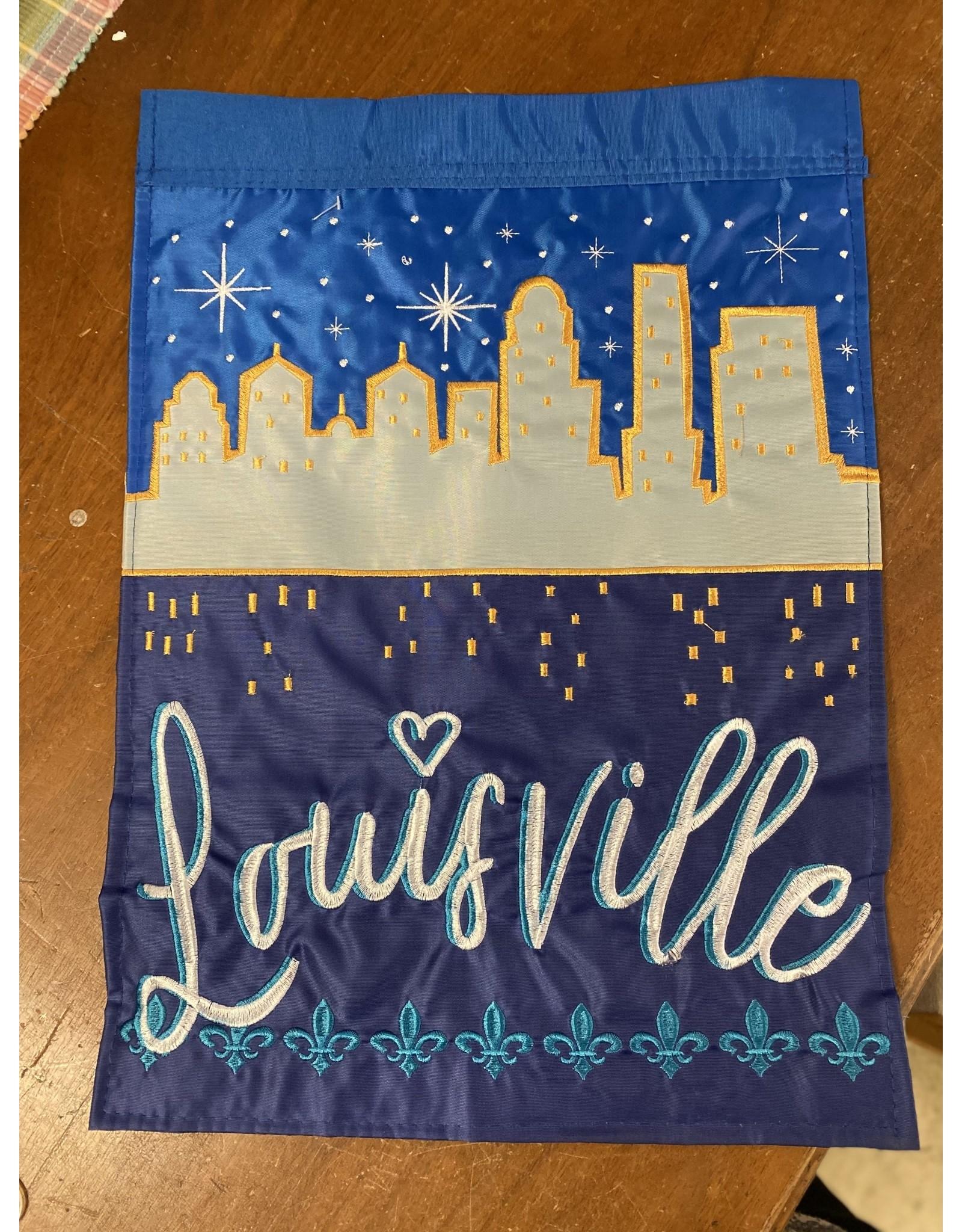 Louisville Skyline Garden Flag