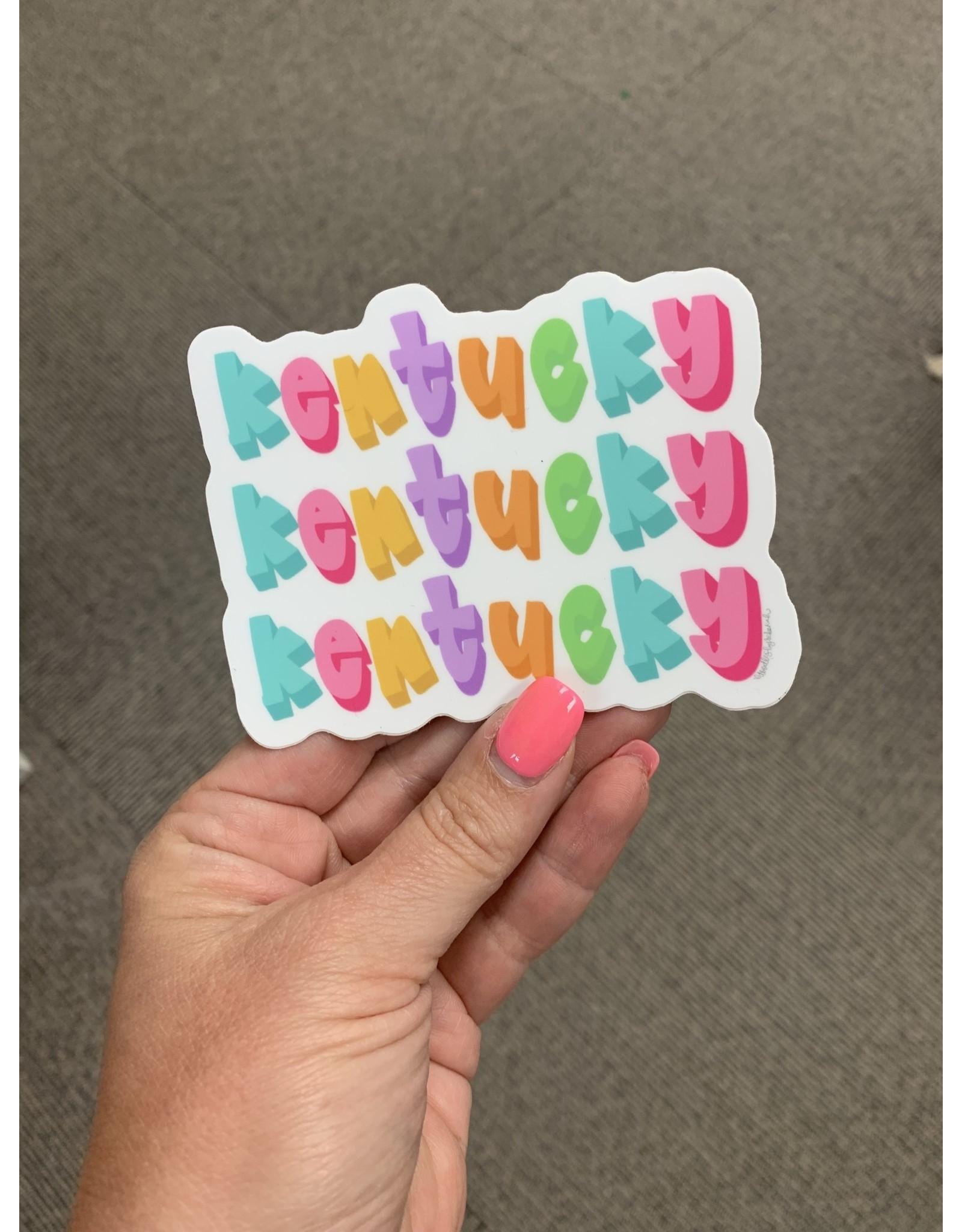 3D Kentucky Sticker