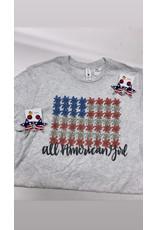 All American Girl Tee Shirt/Medium