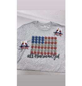 All American Girl Tee Shirt/Small