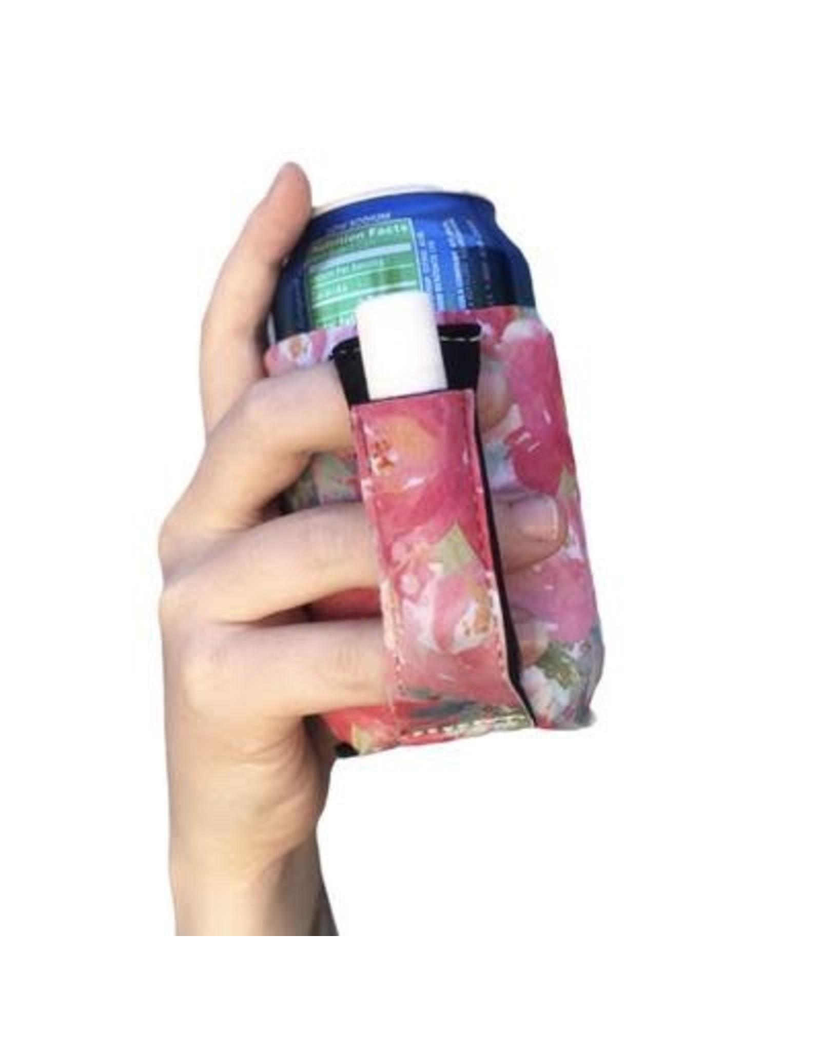 12 oz can pocket holder Summer Blooms