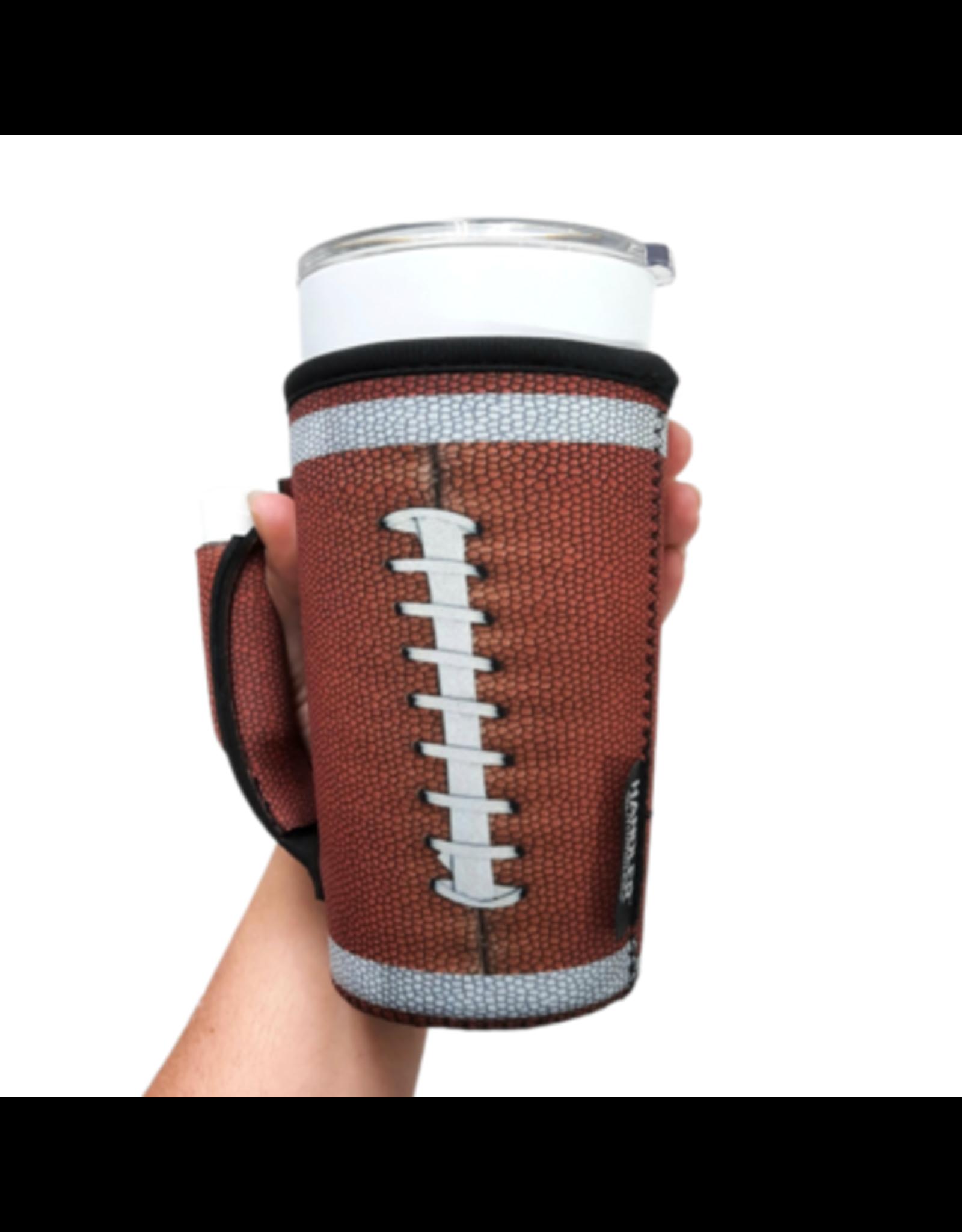 20-27 oz can pocket holder football