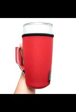 20-27 oz can pocket holder solid red
