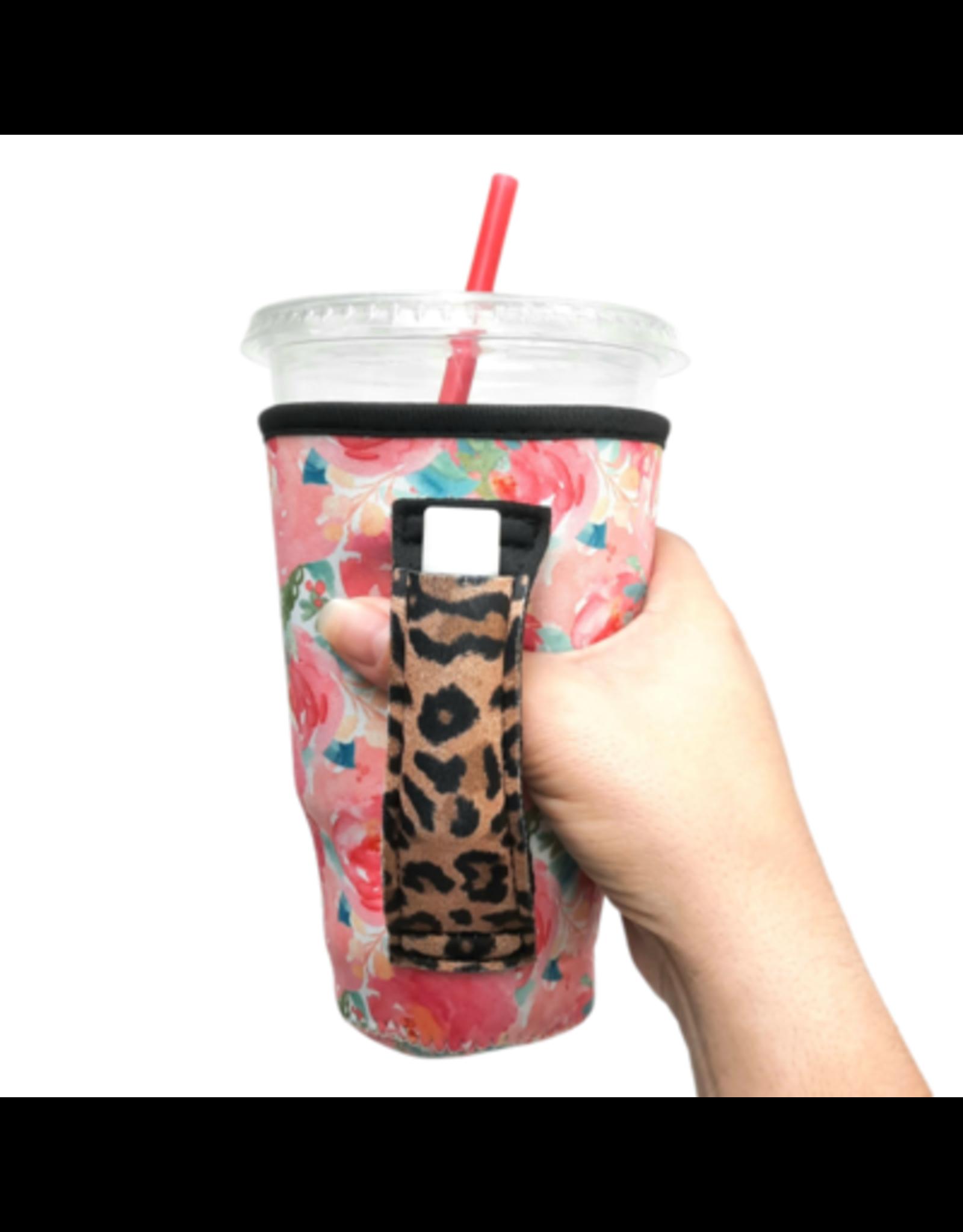 20-27 oz can pocket holder Summer bloom w/leopard