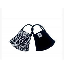 pomchie mask  zebra/black