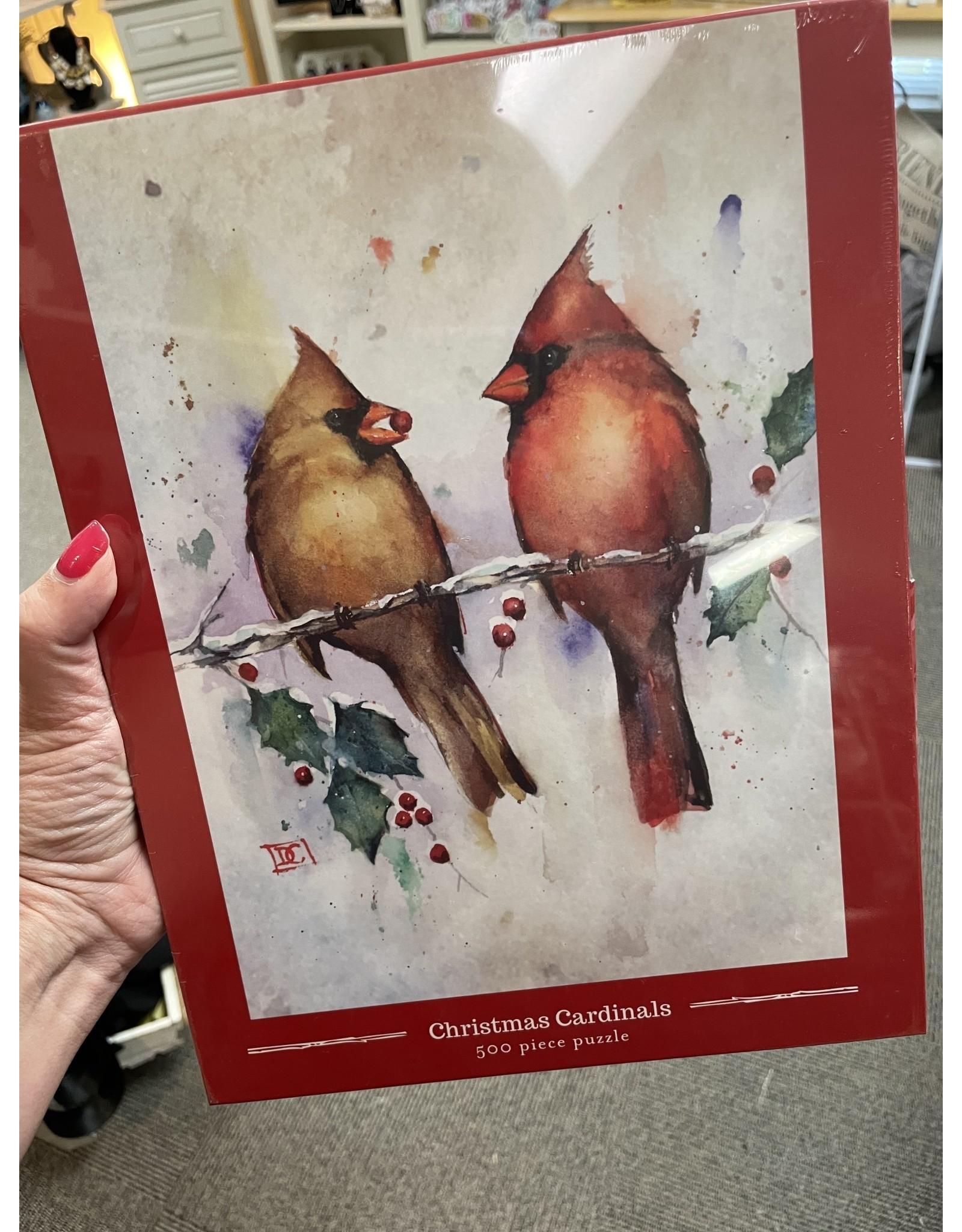 Christmas Cardinal 500 Piece Puzzle