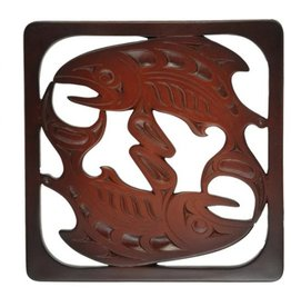 Trivet - Rosewood / Salmon - Mark Garfield