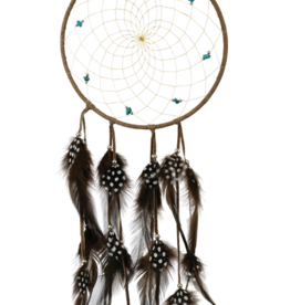 "6"" Dream Catcher w/ Semi precious Stones Brown"