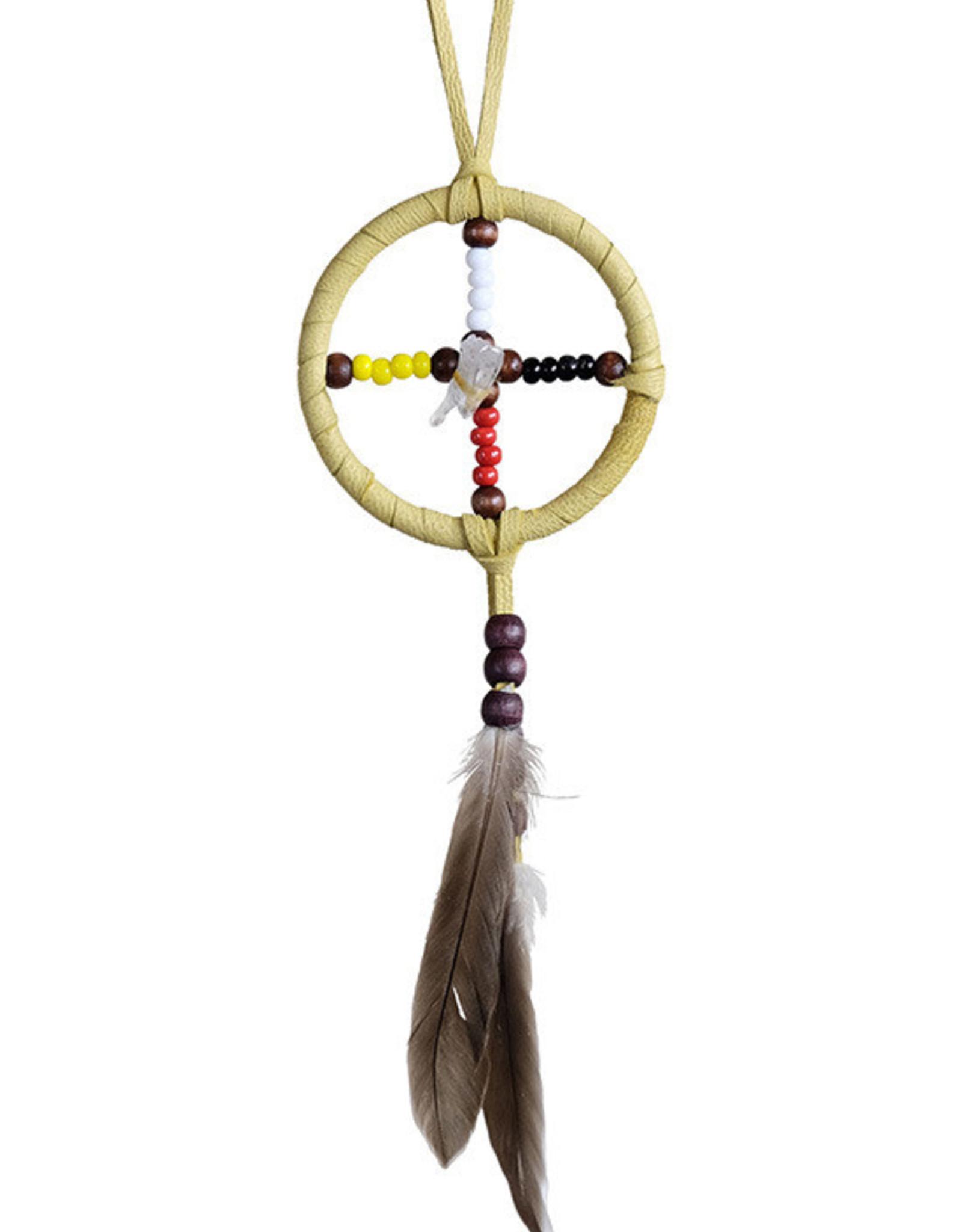 "2"" Medicine wheel w Crystal"