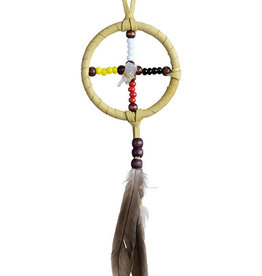 "2"" Medicine wheel w Crystal"