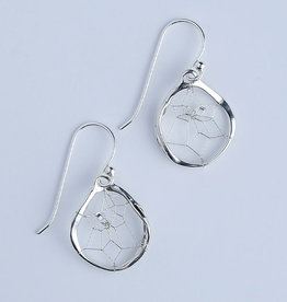 Dream Catcher Earrings - sterling silver