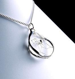 Dream Catcher Pendant - Sterling Silver