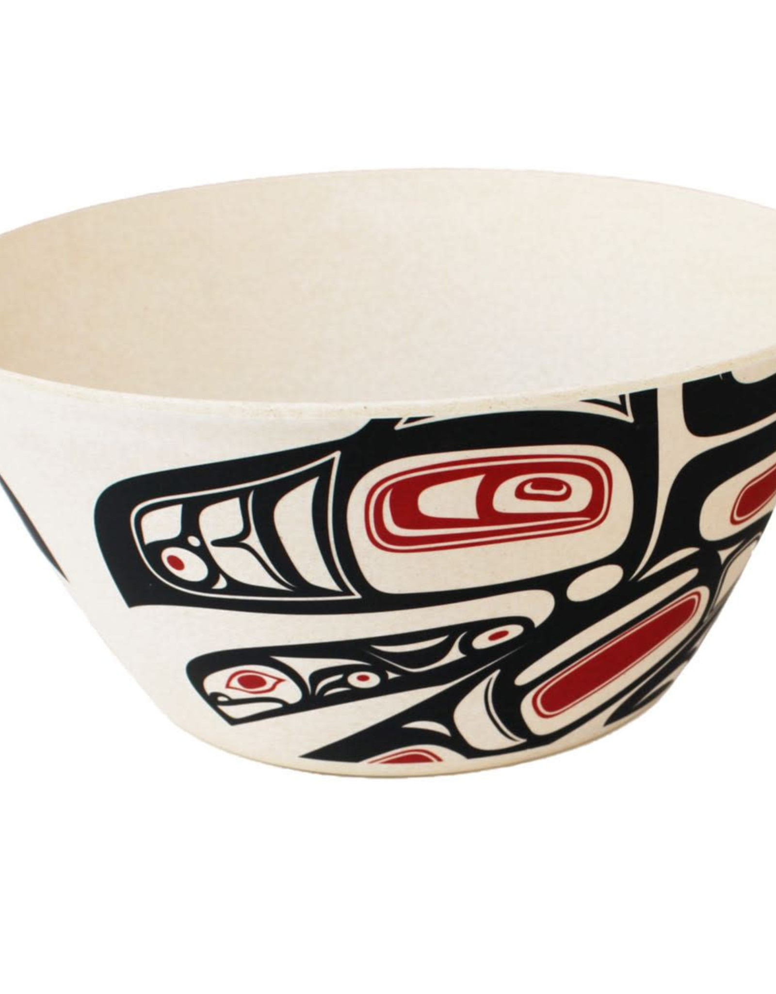 Bamboo Bowl-Running Raven by Morgan Asoyuf