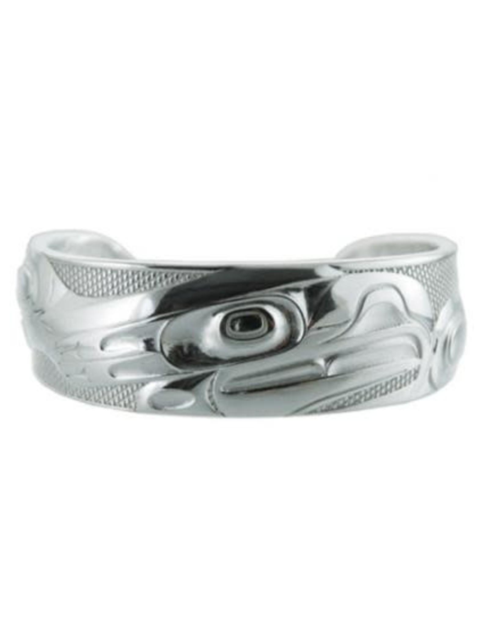 """Silver Pewter Eagle Bracelet-Corrine Hunt 6.5"""""""