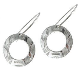 Silver Pewter Equilibrium Earrings