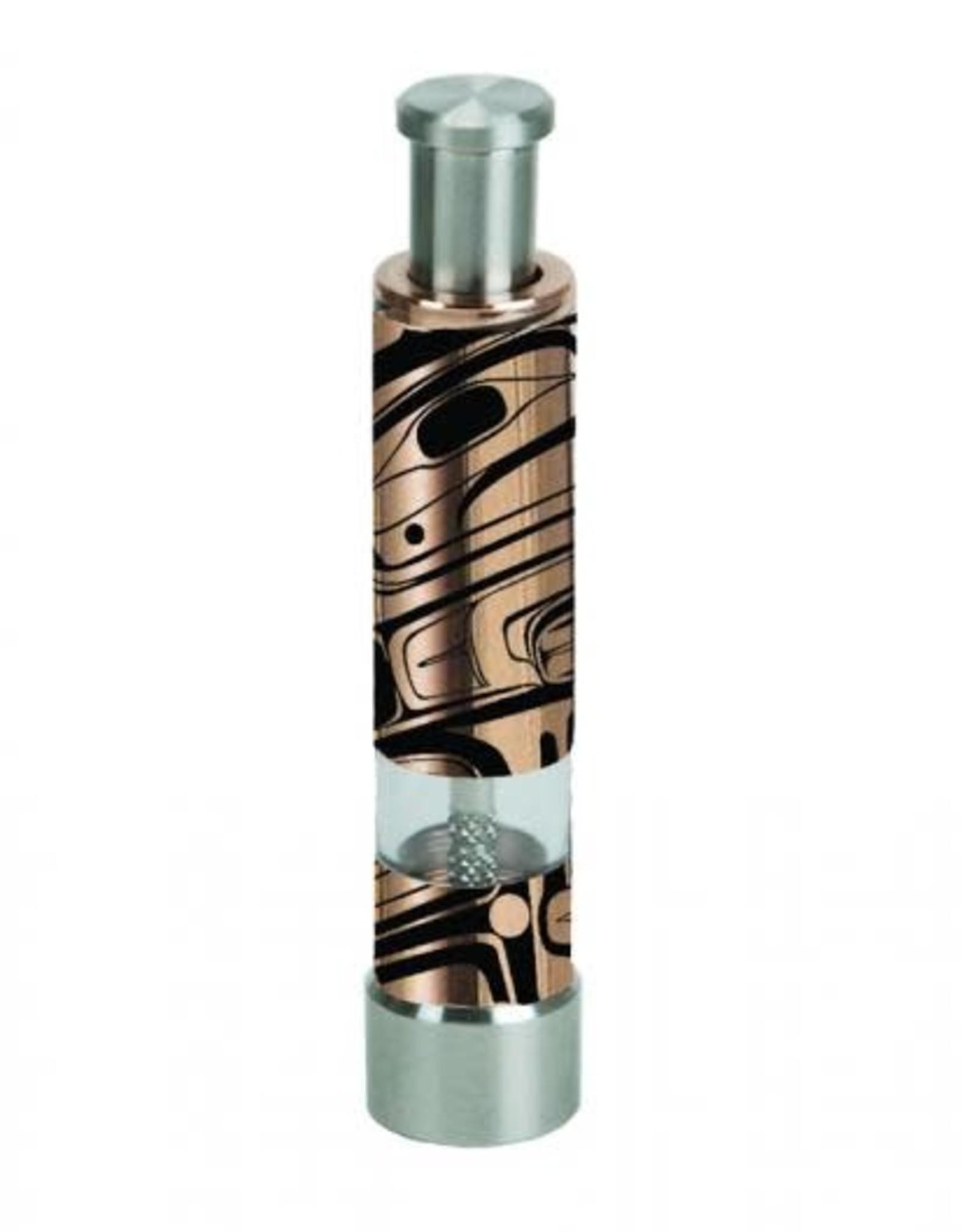 Copper & Stainless Steel Salt/ Pepper Pump-Bear by Marcel Russ