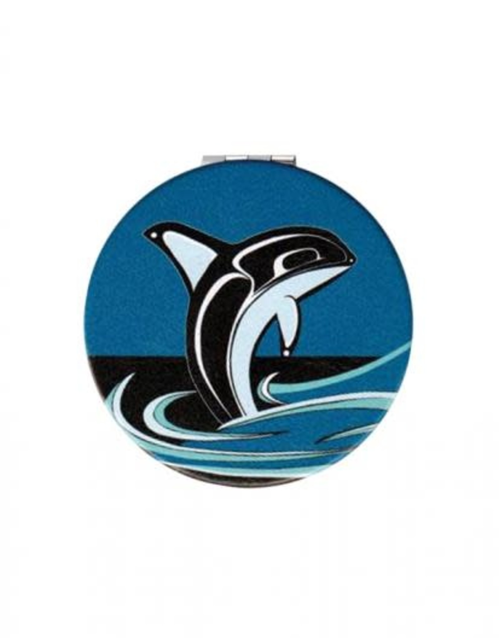 Compact Mirror Killer Whale - Connie Dickens