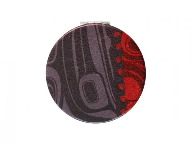 Compact Mirror Raven / Charcoal - Kelly Robinson-2