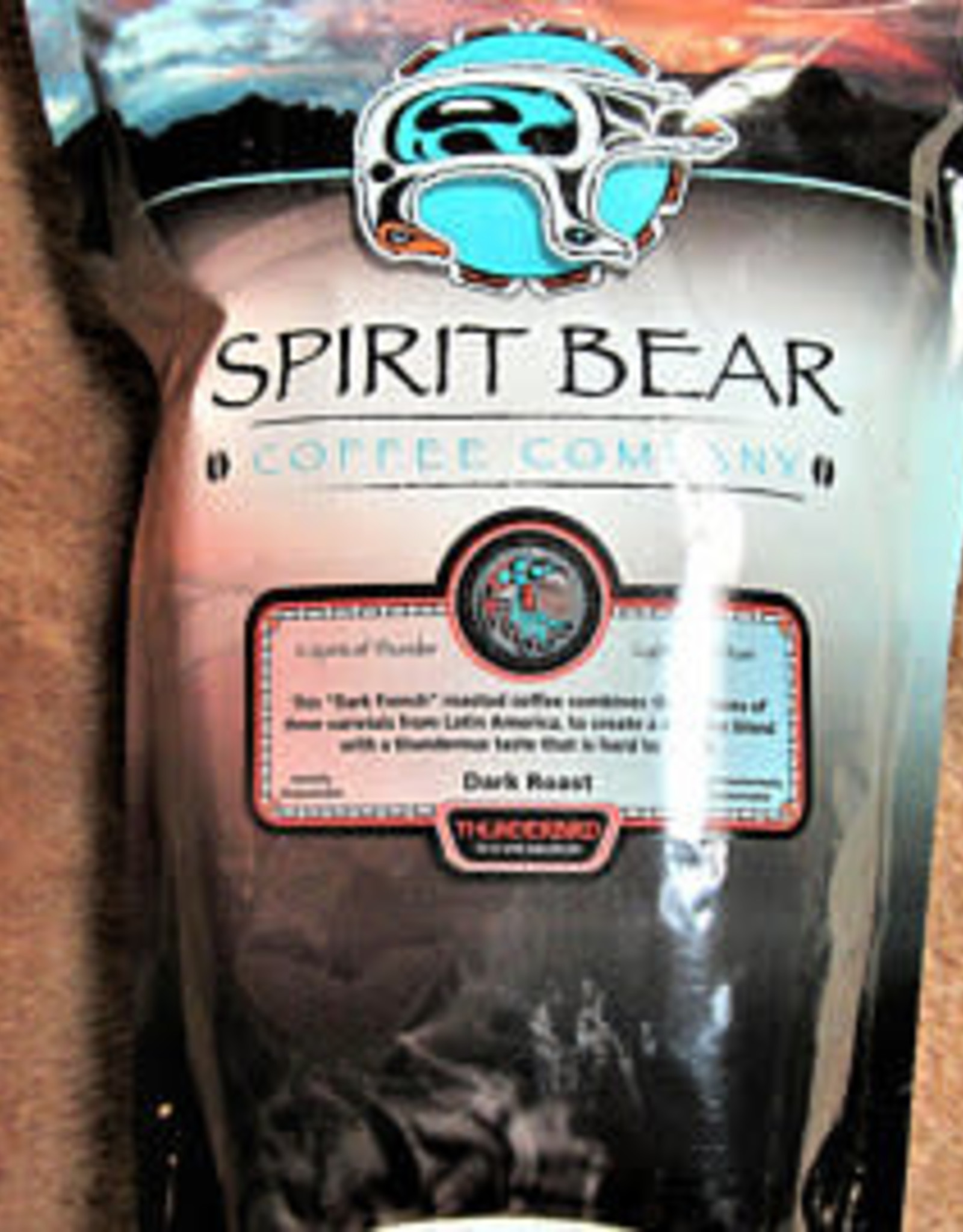 Spirit Bear-Thunderbird Dark Roast Beans-454g