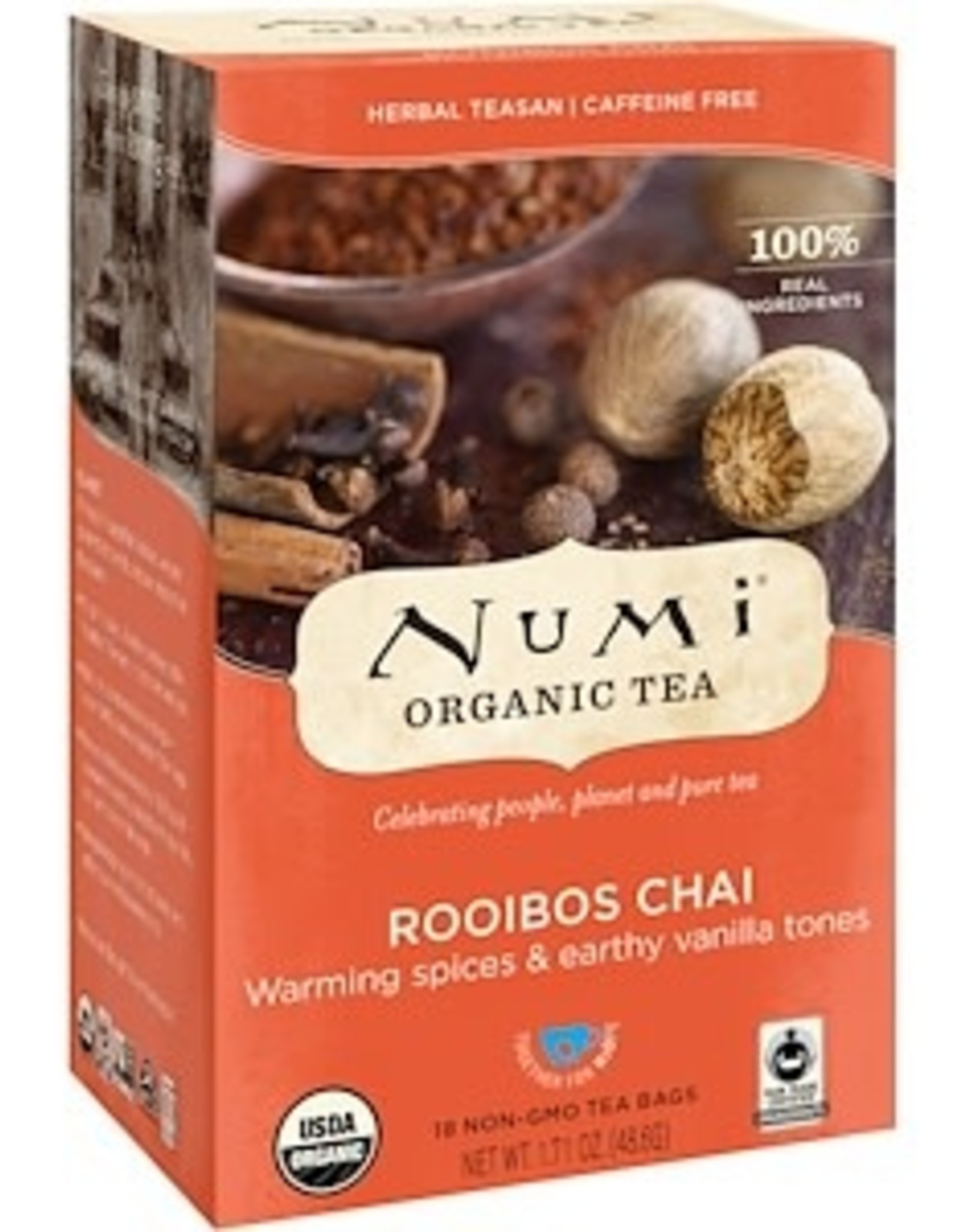 Numi Organic Tea-Rooibos Chai 18 ct