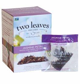 Two Leaves and a bud Jasmine Petal Whole leaf Green Tea Sachets 15ct