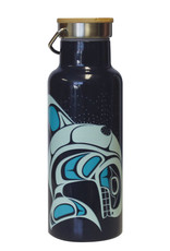 Insulated Bottle Bamboo Lid-Whale by Paul Windsor