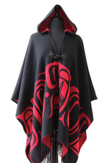 Hooded Fashion Wrap- Formline by Earnest Swanson