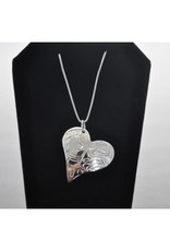 Silver Carved Hummingbird Pendant-LHN